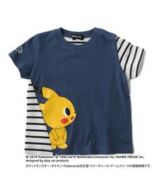 【ポケモン】横向きピカチュウデザインTシャツ(Tシャツ/カットソー)