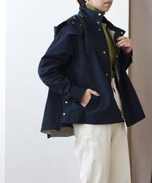 【Eimee Law】グログランテープマウンテンパーカーネイビー