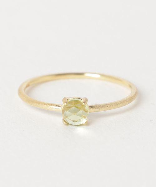 【Trine Jewelry】宝石質ペリドットリング