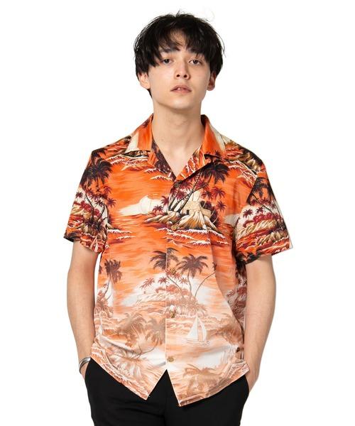 Gradation aloha SH / グラデーションアロハシャツ