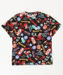 YOKO DOLL MIX柄 Tシャツ【L】ブラック系その他