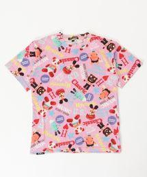 YOKO DOLL MIX柄 Tシャツ【L】ピンク系その他