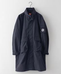 撥水ロングコート 着るBAGシリーズ ポケット10個 収納力抜群 ハーネス仕様 体温調節を容易にできる仕様 収納式フードブラック
