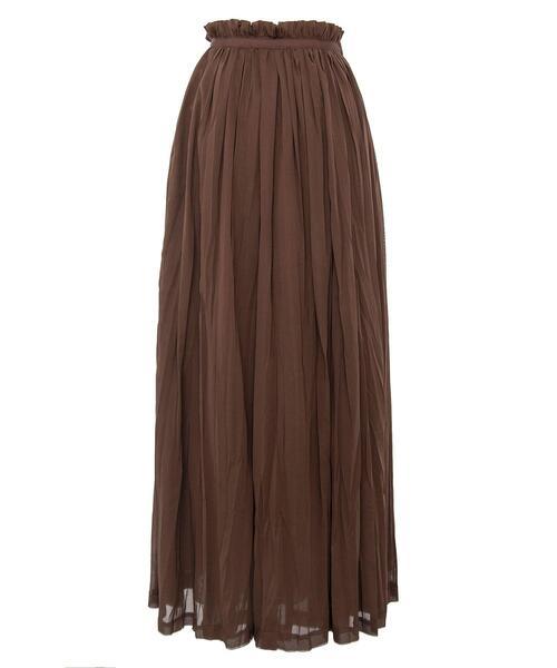 <Drawer(ドゥロワー)> コットンギャザーラップスカート