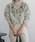 select MOCA(セレクトモカ)の「【2018A/W】リブプチハイネックカラー刺繍ざっくり編みサイドスリット後ろ長めイレギュラーヘム長袖ニット(ニット/セーター)」|グレー