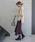 select MOCA(セレクトモカ)の「【2018A/W】リブプチハイネックカラー刺繍ざっくり編みサイドスリット後ろ長めイレギュラーヘム長袖ニット(ニット/セーター)」|詳細画像
