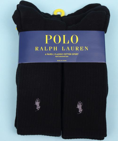 POLO RALPH LAUREN 6PACKS CREW SOCKS
