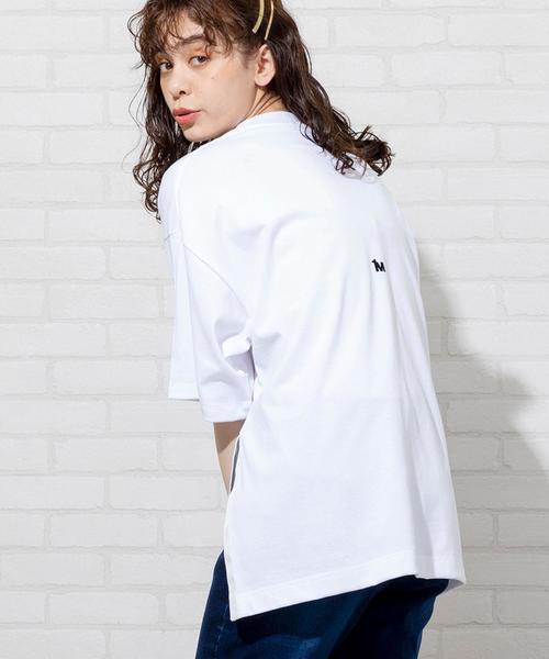【1M】スリットロゴビッグTシャツ