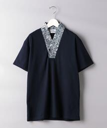 <reyn spooner(レインスプーナー)>  衿付きVネックシャツ