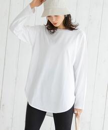 COOLMAX(クールマックス)オールシーズン調温ロングスリーブシャツテールTシャツ#