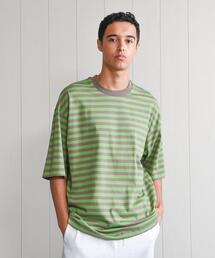 <H>BORDER SHORT SLEEVE T-SHIRT/Tシャツ