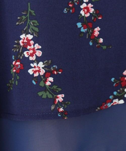 【セットアイテム】リバーシブルフラワーキャミ×Tシャツ