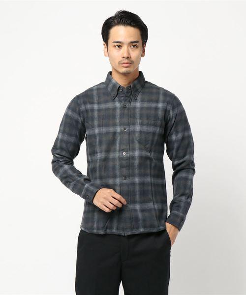 FULL COUNT(フルカウント)  ombre check nel オンブレチェックネルシャツ