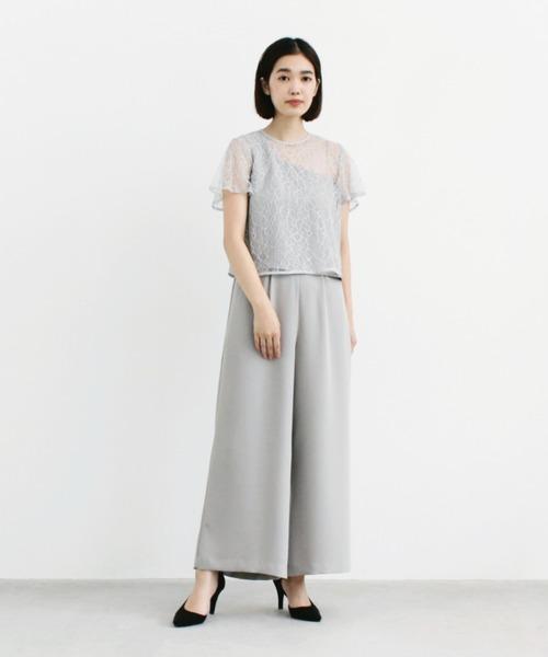 ブラウス付きアシンメトリーパンツドレス【セットアップ】