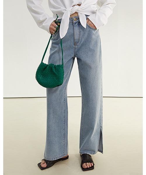 【Fano Studios】【2021SS】Side slit denim pants FX21K010