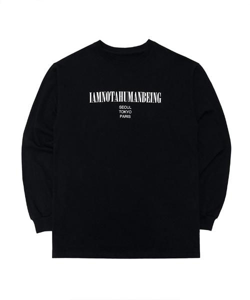 【iam not a humanbeing】インターナショナル ロングスリーブティーシャツ