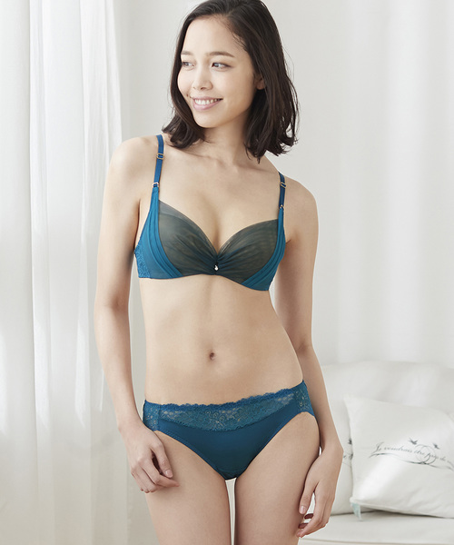 女を楽しむノンワイヤー 「Date.」 3/4カップブラ(S-LLサイズ)