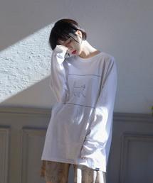 Nora Lily(ノラリリー)の【Nora Lily】ケージ猫ビックTシャツ (UNISEX)(Tシャツ/カットソー)