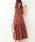 natural couture(ナチュラルクチュール)の「細ベルト付き大人涼しげティアードワンピース(ワンピース)」|レンガ