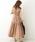 natural couture(ナチュラルクチュール)の「細ベルト付き大人涼しげティアードワンピース(ワンピース)」|詳細画像