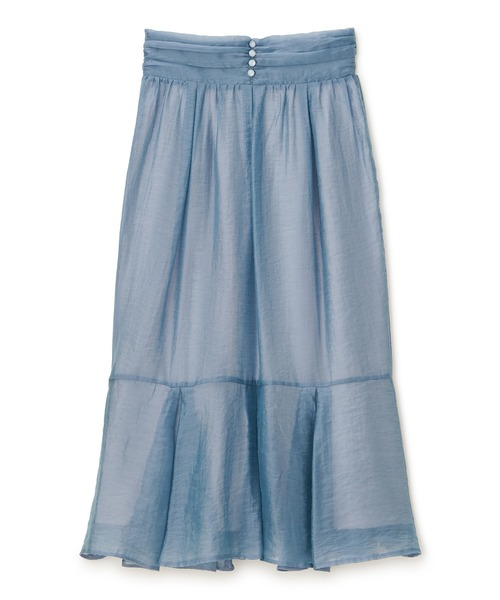 ソフトオーガンジーマーメイドスカート