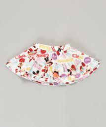 YOKO DOLL MIX柄 ブルマ付きスカート【XS/S/M】ホワイト系その他