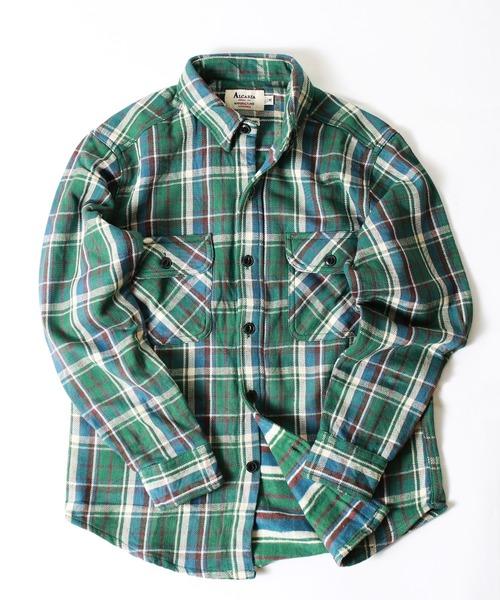 ヘビーフランネル チェックシャツ/シャツジャケット