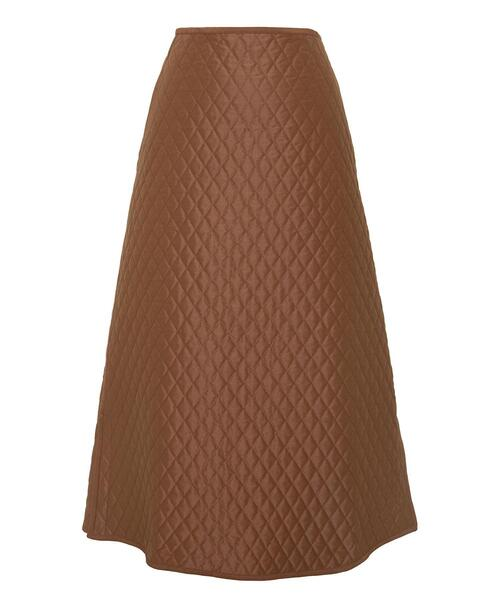 <Drawer(ドゥロワー)> コットンシルクキルティングスカート