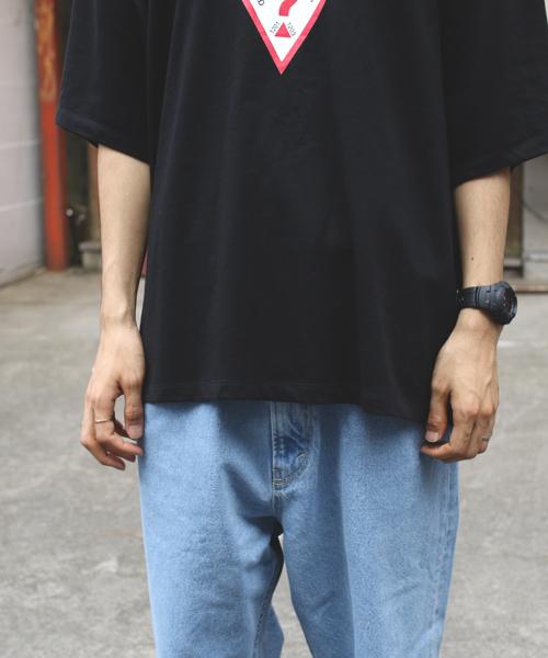 WEB限定 Guess/ゲス 別注スーパービッグシルエット ロゴ 半袖Tシャツ