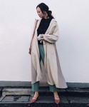 AMERI(アメリ)の「SEE THROUGH BACK PLEATS TRENCH(トレンチコート)」