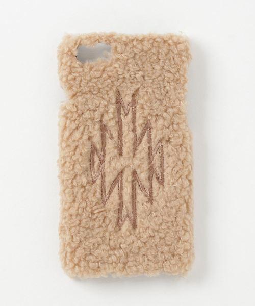 AZUL BY MOUSSY(アズールバイマウジー)の「ボアネイティブ刺繍スマホケース(モバイルアクセサリー)」 ベージュ