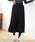 AMERICAN HOLIC(アメリカンホリック)の「・ロングニットプリーツ風スカート(スカート)」|ブラック