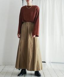 FIL DE FER(フィルデフェール)のミリタリーフランネル サイドタックロングスカート(スカート)