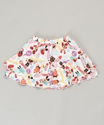 YOKO DOLL MIX柄 ブルマ付きスカート【L】ホワイト系その他
