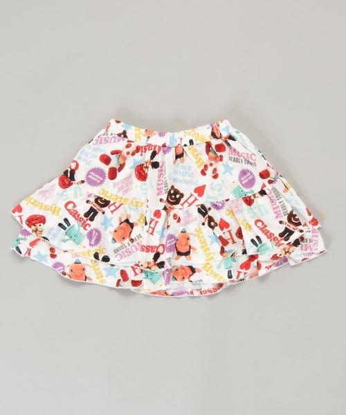 YOKO DOLL MIX柄 ブルマ付きスカート【L】