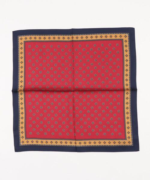 モンロアン mont loin / ツイル小紋横浜手捺染スカーフ