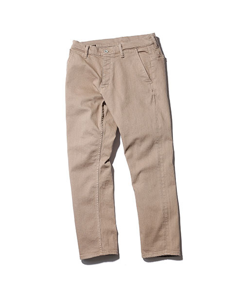 SUPER STRETCH DENIM / OVER DYED ANKLE CUT SLIM PANTS