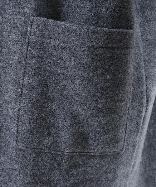 mcg2296-Easy Long Knit sew Cardigan カーディガン(MADE IN JAPAN)