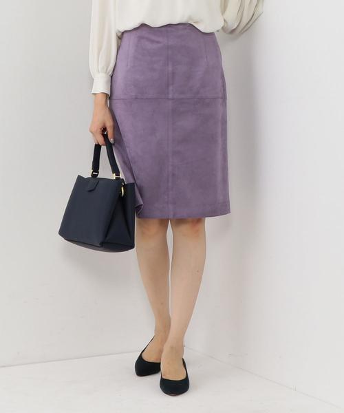 <closet story>フェイクスエード タックタイトスカート