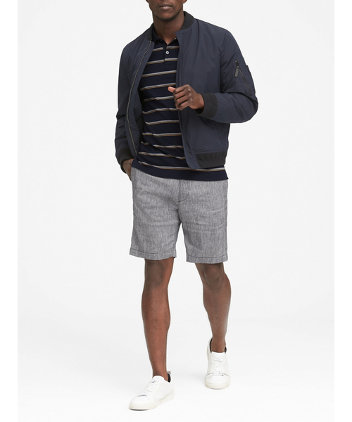 Luxury-Touch Stripe Polo