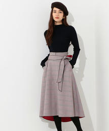 CS G/チェック ボンディング スカート