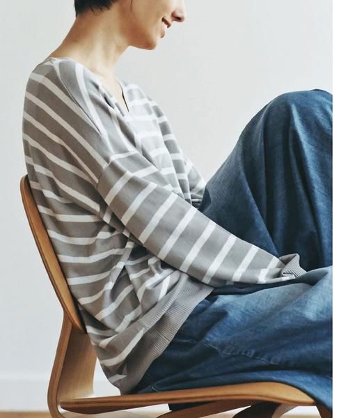 and myera ボーダーニットTシャツ