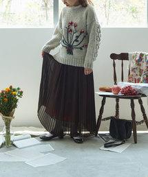 l'atelier du savon(アトリエドサボン)の50dジョーゼット プリーツSK(スカート)