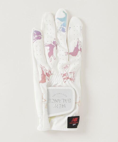 New Balance Golf(ニューバランスゴルフ)の「ボストンテリア 左手用 片手グローブ (WOMENS METRO)(手袋)」|ホワイト