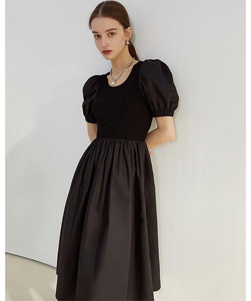 【Fano Studios】【2021SS】Puff sleeve knit dress FC21L049