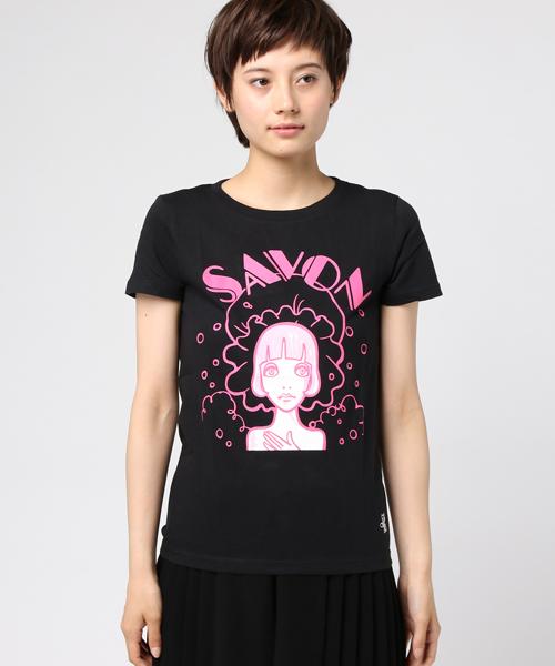 ルネブティック Tシャツ SAVON ガールズサイズ ブラック