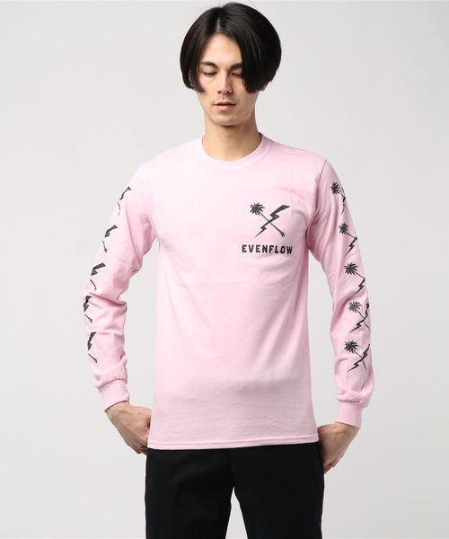 evenflow イーブンフロウ / クロスロゴ プリント長袖Tシャツ CROSS LOGO L/S TEE EFL-1003 SAFARIサファリ 5月号掲載