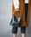 210nouve(トゥージュヌーブ)の「クロコ型押しバンブーハンドルバッグ(ハンドバッグ)」|詳細画像