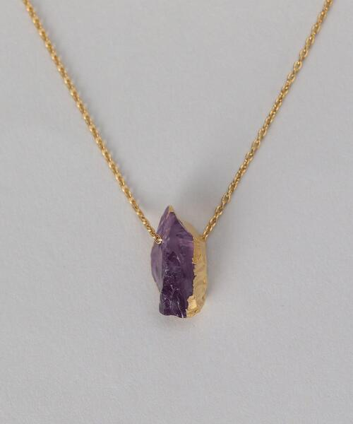 <Preek>AMETHYST NECKLACE/ネックレス¨ο
