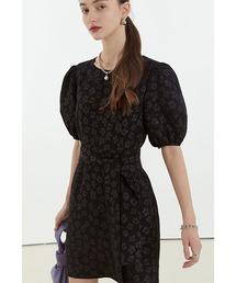 【Fano Studios】【2021SS】Floral jacquard short dress FC21L042ブラック
